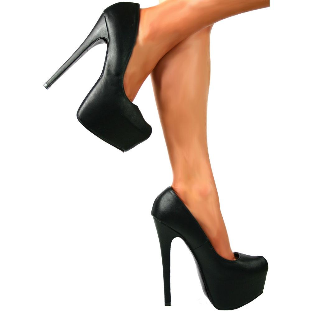 shoekandi high heel concealed platform stiletto shoes
