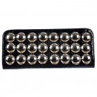 Ladies Metallic Shiney Evening Clutch Handbag - Black Metallic