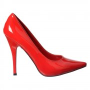 Large Sizes - Party High Heel Pointed Toe Court Shoes UK9-UK12 - Red, Black
