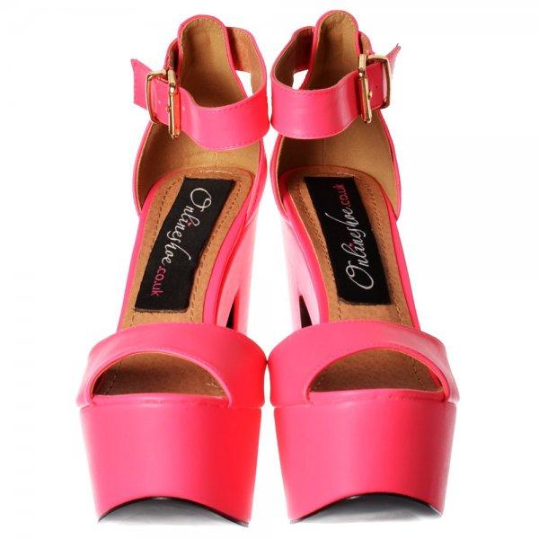 40fd489e2cf Shoekandi Melisa Peep Toe Ankle Strap Platform High Heels - Hologram -  Gold