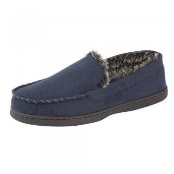 Shoekandi Men's Luxury Fur Lined Slip On Mule Slippers with Hard Wearing Sole - Brown, Dark Brown, Tan, Black