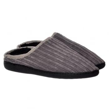 Shoekandi Mens Luxury Fur Lined Slip On Mule Slippers With Hard Wearing Sole - Brown, Dark Brown, Tan, Brown, Black, Grey