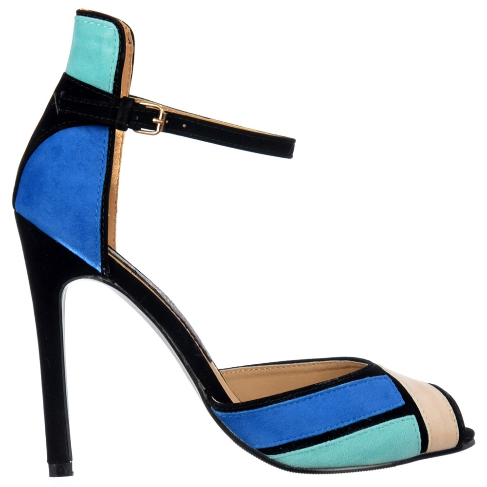 Blue Sandals With Heels