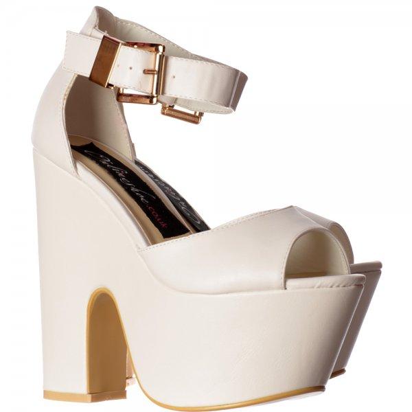 af87db2bfe0 Shoekandi Peep Toe Demi Wedge Party High Heels - Buckled Ankle Strap - Black  Suede