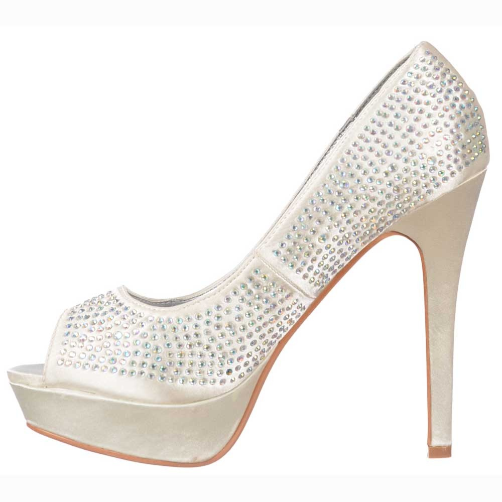 shoekandi peep toe diamante stiletto platform