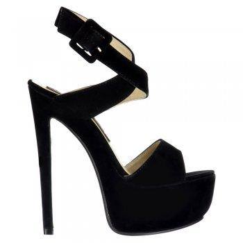 Shoekandi Peep Toe High Heel Stiletto - Wrap Around Ankle Strap - Black, Mint Green, Red, Nude