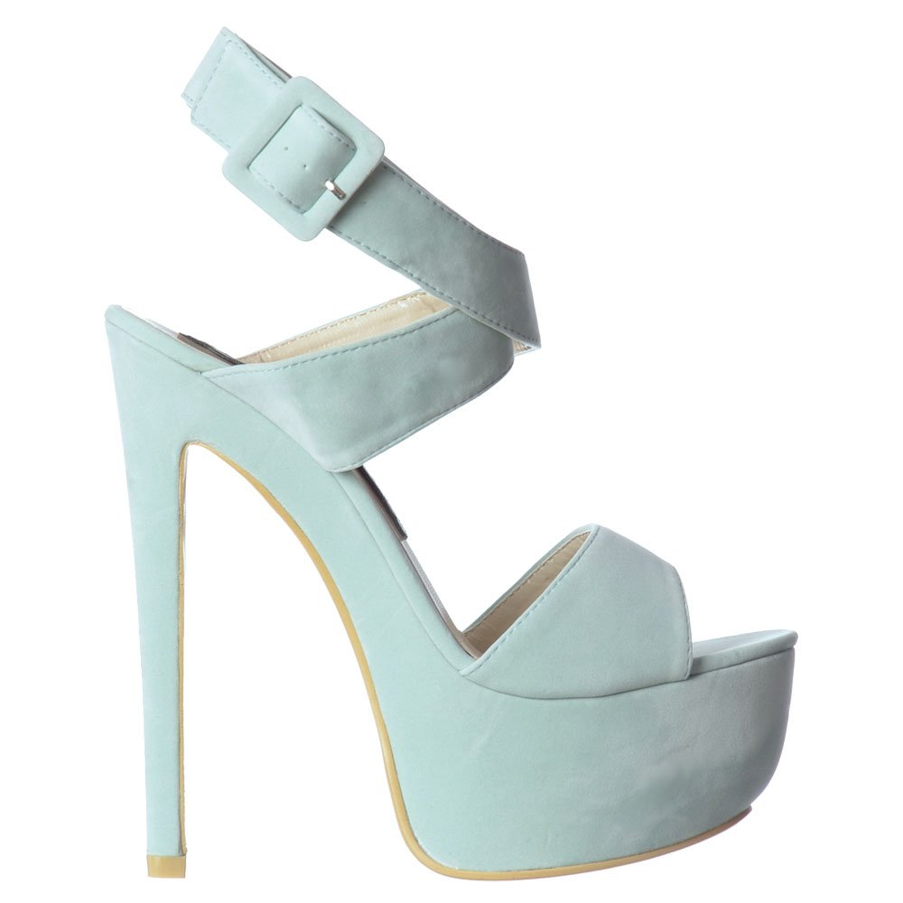 a73471410798 Shoekandi Peep Toe High Heel Stiletto - Wrap Around Ankle .
