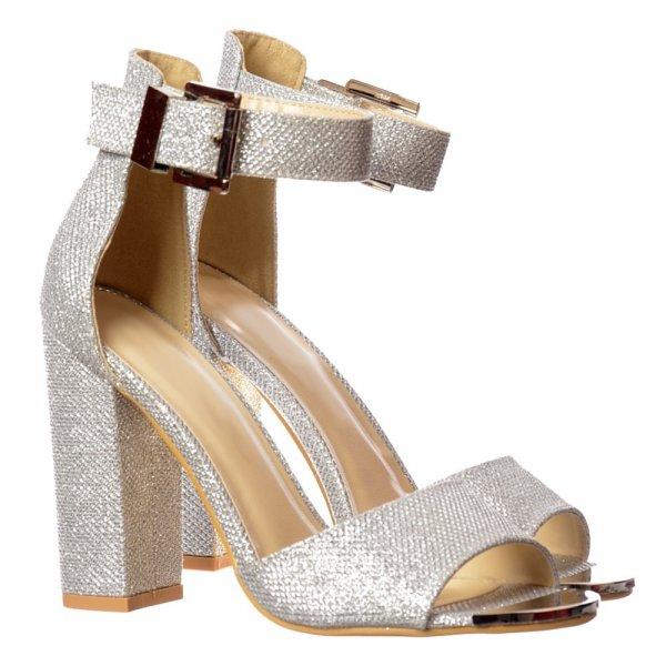 08e0b307247 Shoekandi Peep Toe Mid Heels - High Back Strappy Sandals Buckled Ankle Cuff  - Shoekandi from ShoeKandi UK