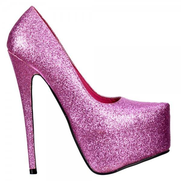shoekandi pink sparkly shimmer glitter high heel stiletto