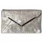 Shimmer Glitter Envelope Evening Clutch Purse Handbag - Black, Gold, Silver