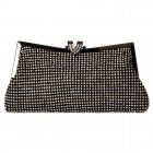 Soft Evening Clutch Diamante Handbag Purse - Gold Diamante, Silver Diamante, Black Diamante