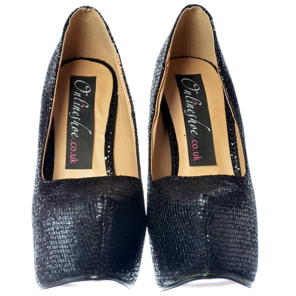 Shoekandi Sparkly Shimmer Glitter High Heel Stiletto ...