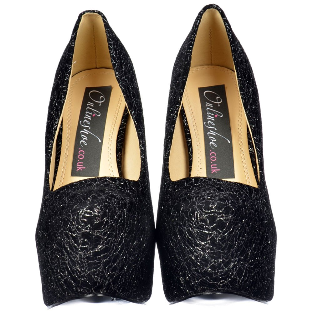 Silver Studded High Heels