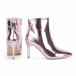 Shoekandi Stiletto Heel Pointed Toe Ankle Boots