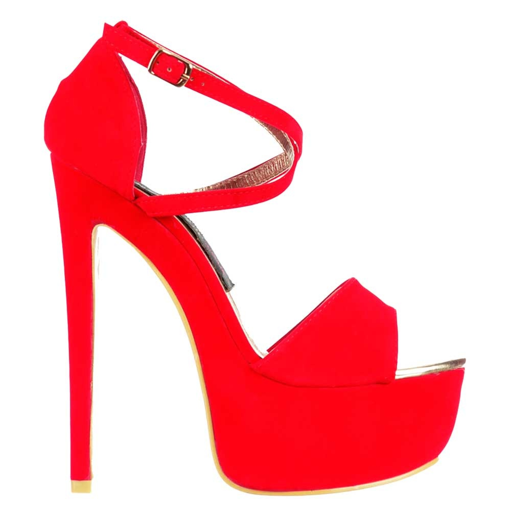 shoekandi strappy cross over high heel party shoes black suede red suede gold glitter. Black Bedroom Furniture Sets. Home Design Ideas