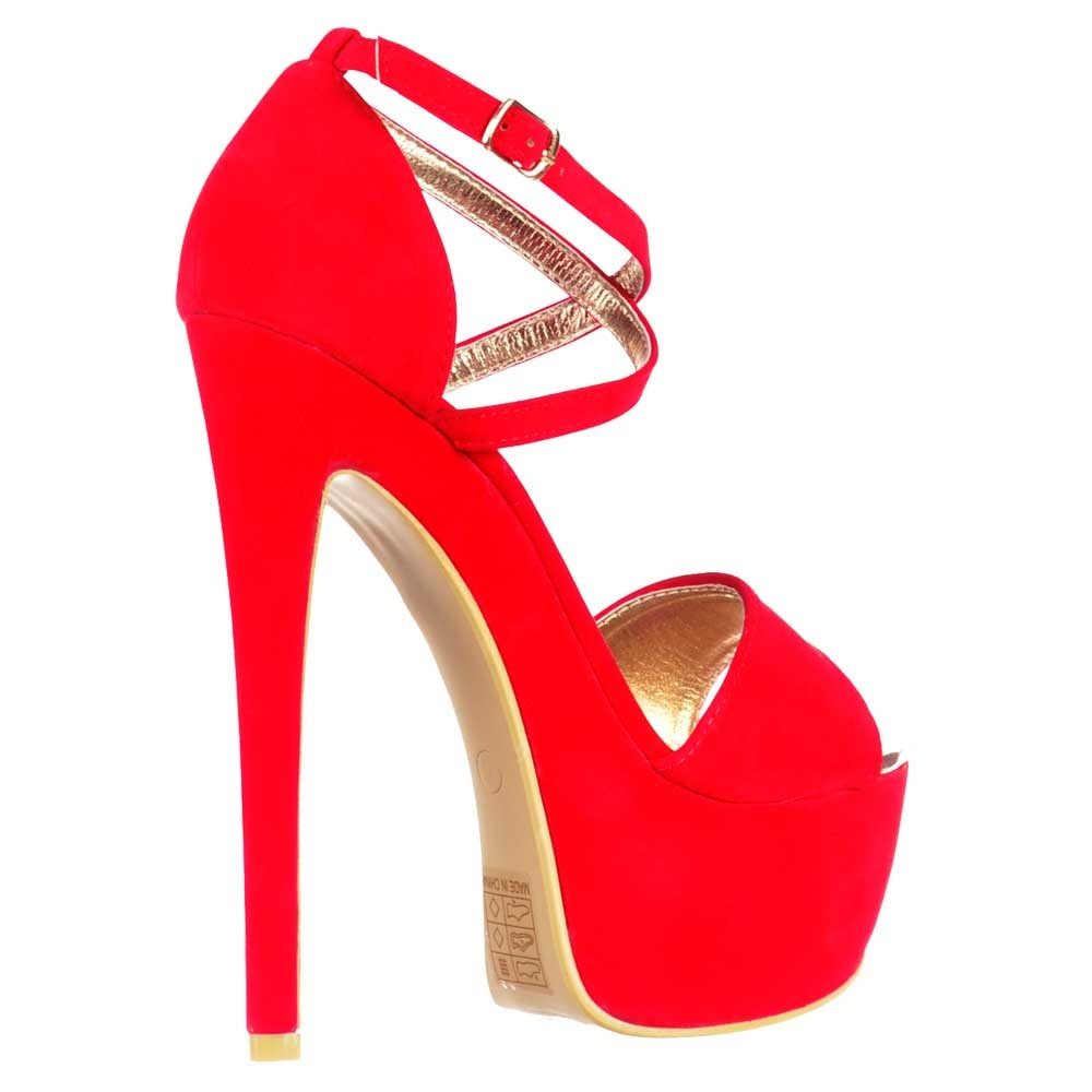 Strappy Red High Heels - Is Heel