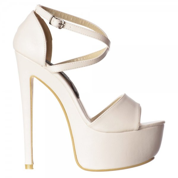 Shoekandi Strappy Cross Over High Heel Stiletto Party Shoe ...