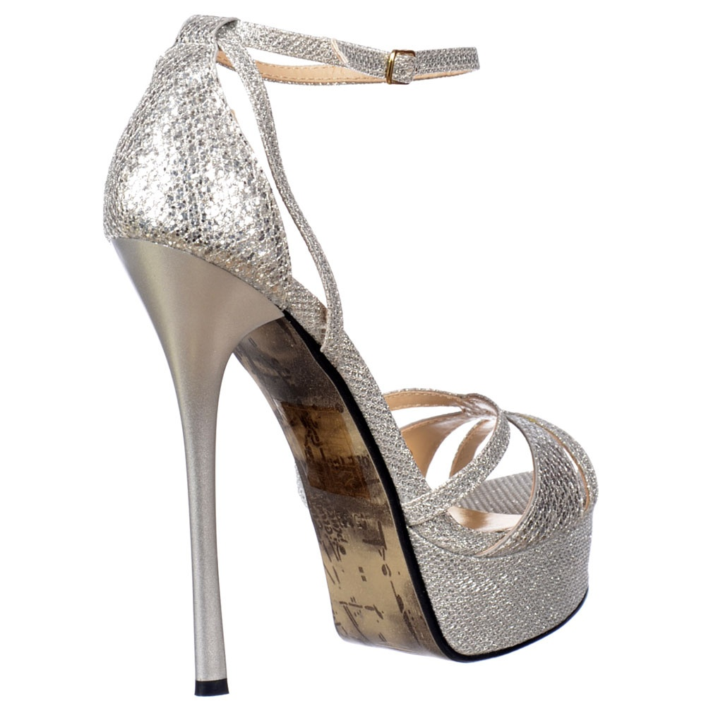 Silver Stiletto Heels - Is Heel
