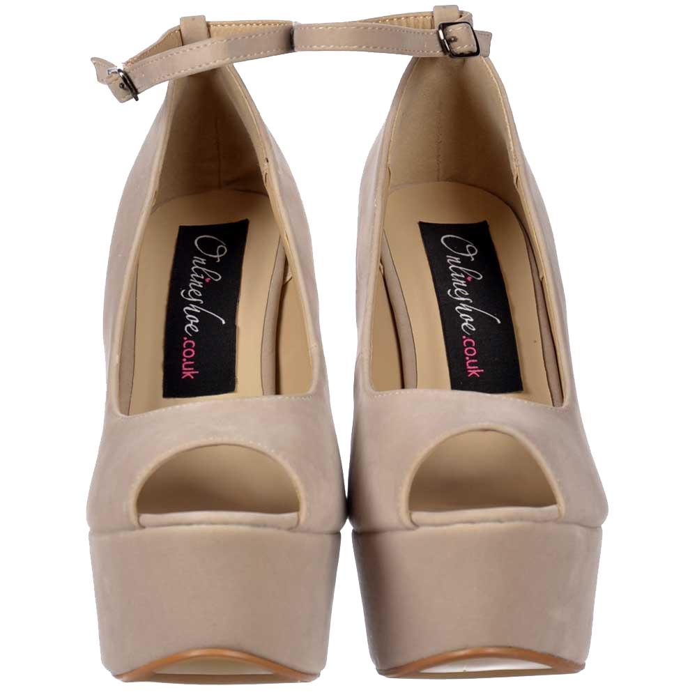 Wedge Heel Peep Toe Platform Womens Sandals - Tbdress.com