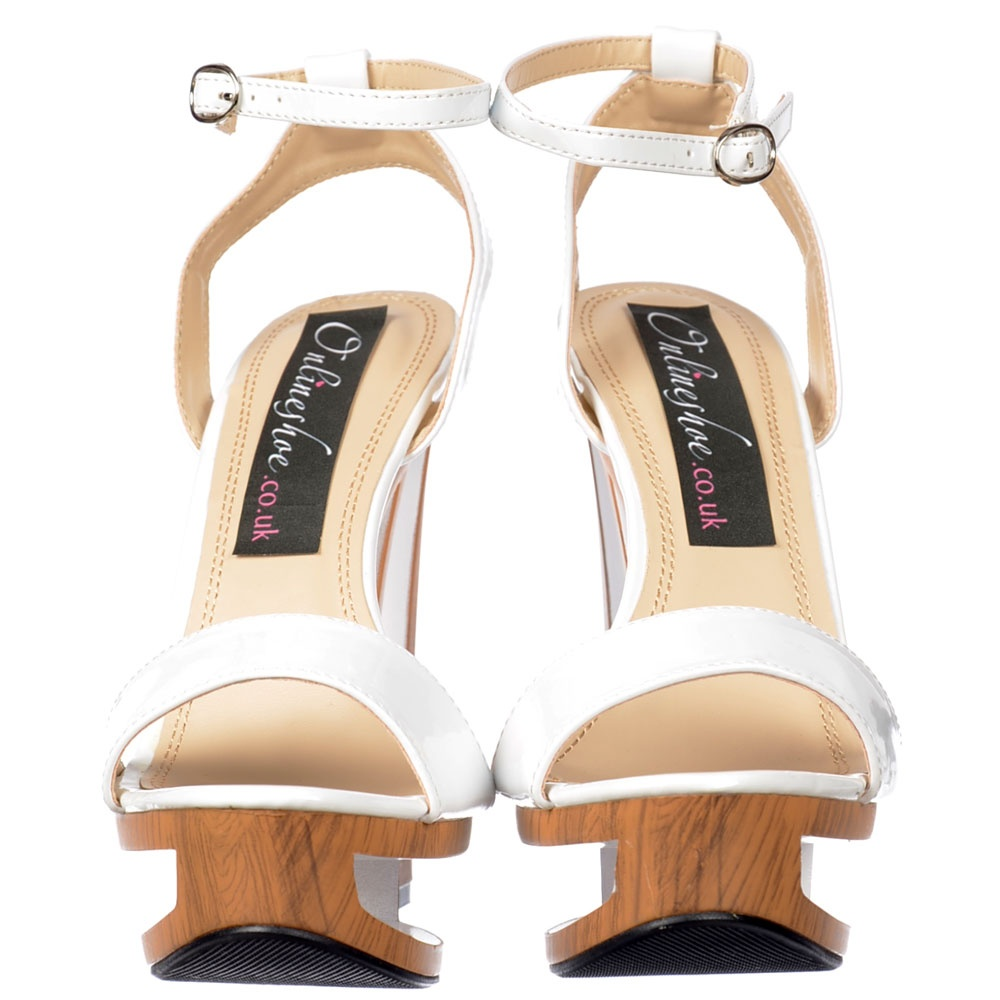 Shoekandi Wedge Strappy Summer Sandal Hollow Wooden
