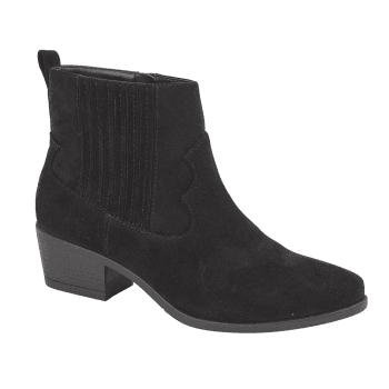 Shoekandi Western Style Low Heel Ankle Boot