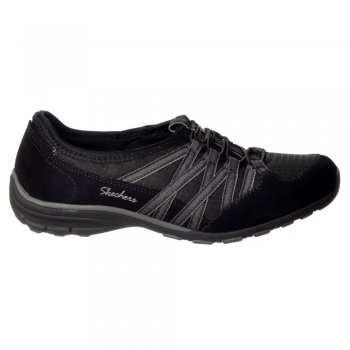 Skechers Conversations Holding Aces Relaxed Fit Memory Foam Shoe - Black / Charcoal