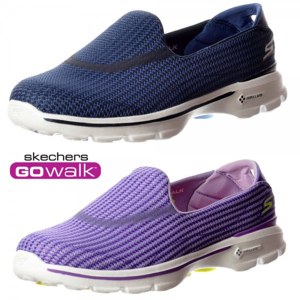 finest selection a2cf3 49691 Skechers Go Walk 3 Performance Division Memory Foam Walking Shoes - Navy   Light  Blue,. ‹ View All Skechers  ‹ ...