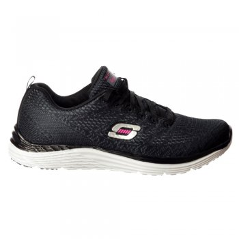 Skechers Valeris Relaxed Fit Air Cooled Memory Foam Trainers - Black / White