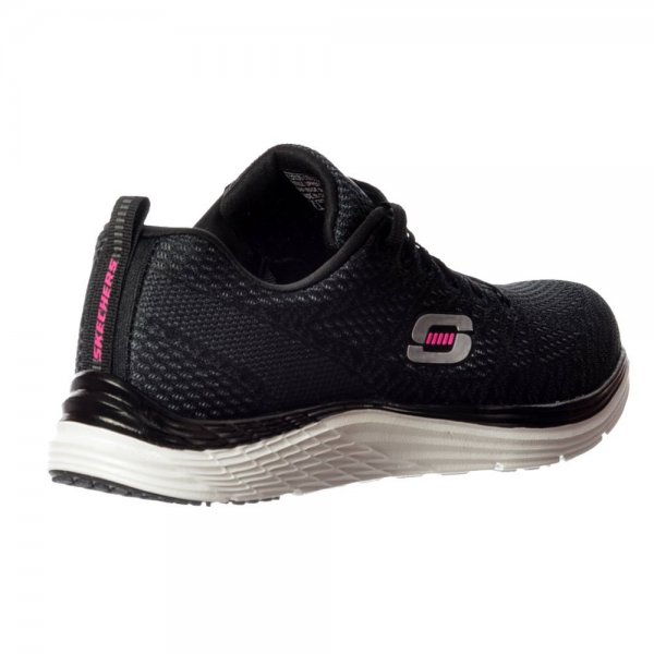 Skechers Valeris Relaxed Fit Air Cooled Memory Foam Trainers - Black ... ebffbf8a2