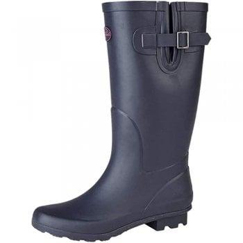 StormWells Flat Wide Calf Wellie Wellington Festival Rain Boots - Assorted Colours