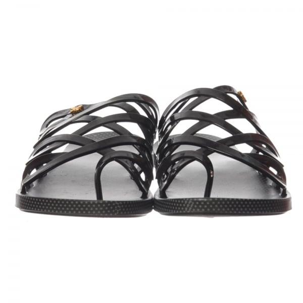 8e203257faeb Zaxy Infinity Flat Slip on Jellie Flip Flop Sandal - Black - Zaxy from  ShoeKandi UK