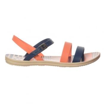 Zaxy Urban Flat Jellie Strappy Sandal - Navy / Coral
